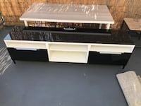 Ikea besta tv unit with drawers and glass top Los Angeles, 91411