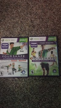Fitness games XBOX 360 KINECT 24 mi