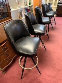 Fabulous Set of 5 Mid Century Modern Barstools - REDUCED
