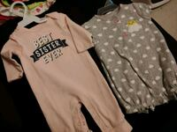 baby's two white and brown onesies Weslaco