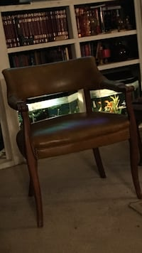 Two brown leather vintage chairs Beaumont, 77708