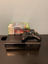 XBOX 360 E 500GB with 5 games and controller