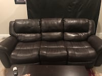 Brown Leather Sofa and Love Seat - **GREAT CONDITION** Rockville, 20852