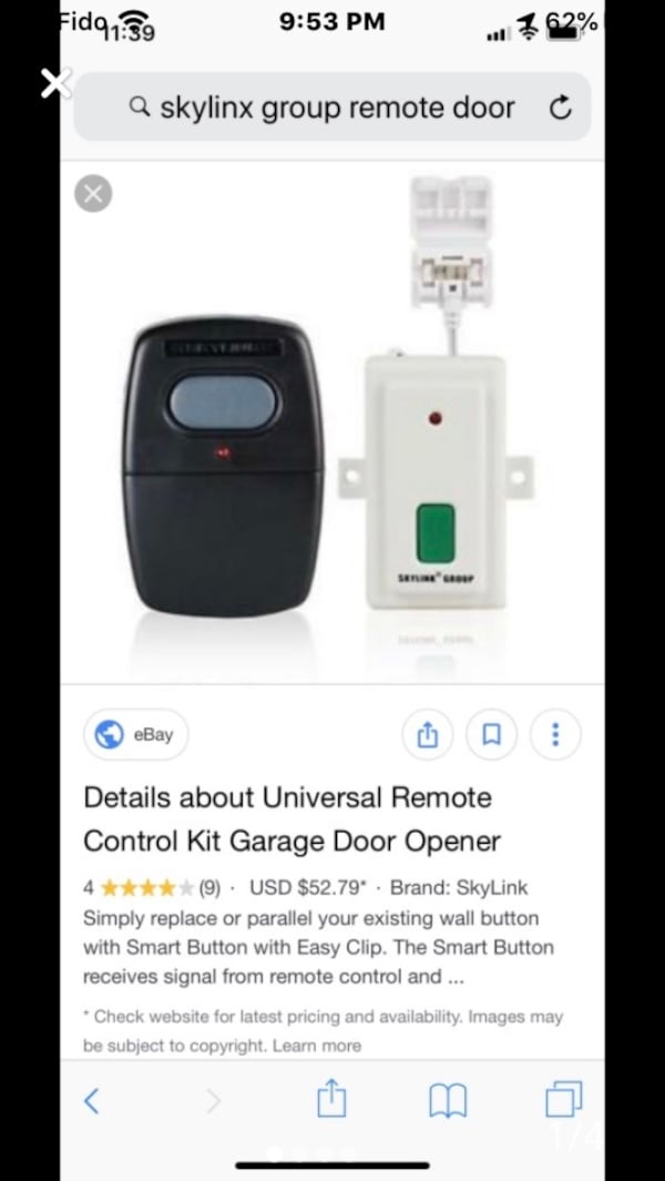 2 Garage door remotes, works with yelow light button frequency.  c303ab5f-3285-443d-9eed-58dc610b62dd