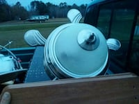 white and silver dome light