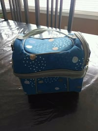 blue and white polka dot print lunch box Calgary, T3K 4L7