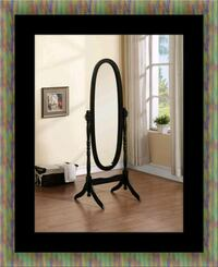 Black swivel oval mirror Largo, 20774