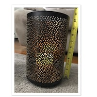Bath & Body Works Gold Metal 3 Wick Candle Holder Luminary Set