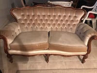 Vintage french provincial couch set