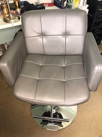 Gray leather padded chair Woodbridge, 22193