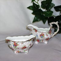 Vintage Hammersley Bone China Cream & Sugar Fancy Mississauga