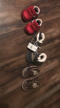 three pairs of toddler's assorted-color shoes San Bernardino, 92401