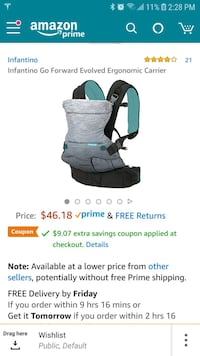 Infantino Go Forward Evolved Baby Carrier Clarksburg, 20871
