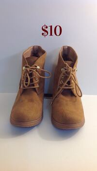 Brown Wedged Shoes: Size 7 Toronto, M6G