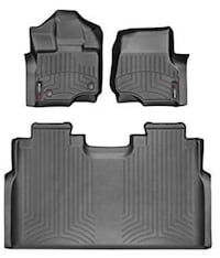 2015-2018 Ford F-150-Weathertech Floor Liners-Full Set 1st Row Bucket Seating (Includes 1st and 2nd Row)-Fits Supercrew Models Only-Black Bakersfield, 93313