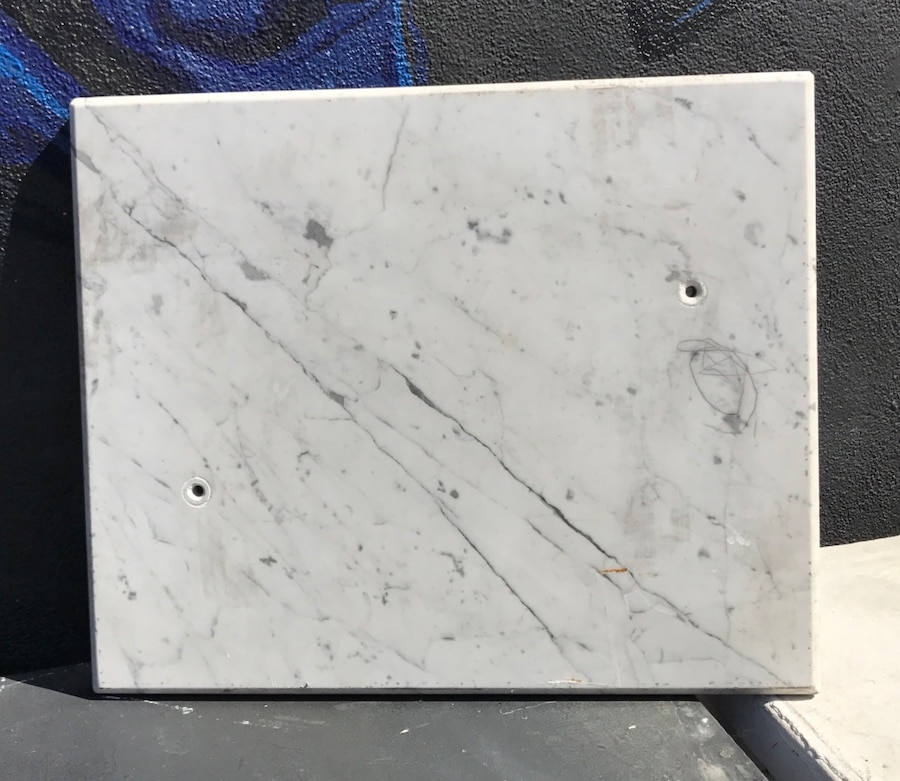 Square black and white marble panel - Highland Park