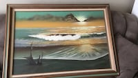 Ocean under white sky painting Corpus Christi, 78415