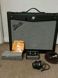 Fender mustang 3 amp with pedal, switch and cord Edmonton, T6J 4M2