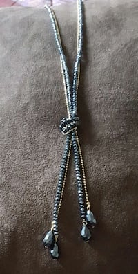 NEW NECKLACE ONE OF A KIND BLUE BEADS AND GOLD