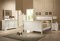 *BRAND NEW* WHITE SLEIGH QUEEN BEDROOM SET! DELIVERY AND ASSEMBLY INCLUDED!!! Forest Park