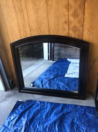 Dresser with mounting mirror