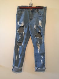 Blue denim distressed jeans screenshot Kelowna, V1X 1A3