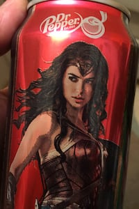 Limited edition wonder woman Dr Pepper Collectible can