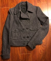 90% new FCUK Grey Wool Jacket Size:6 Markham