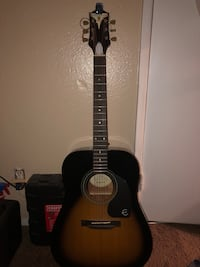 Acoustic Epiphone Pro 1 VS w/ a snark clip on digital tuner Lancaster, 93536