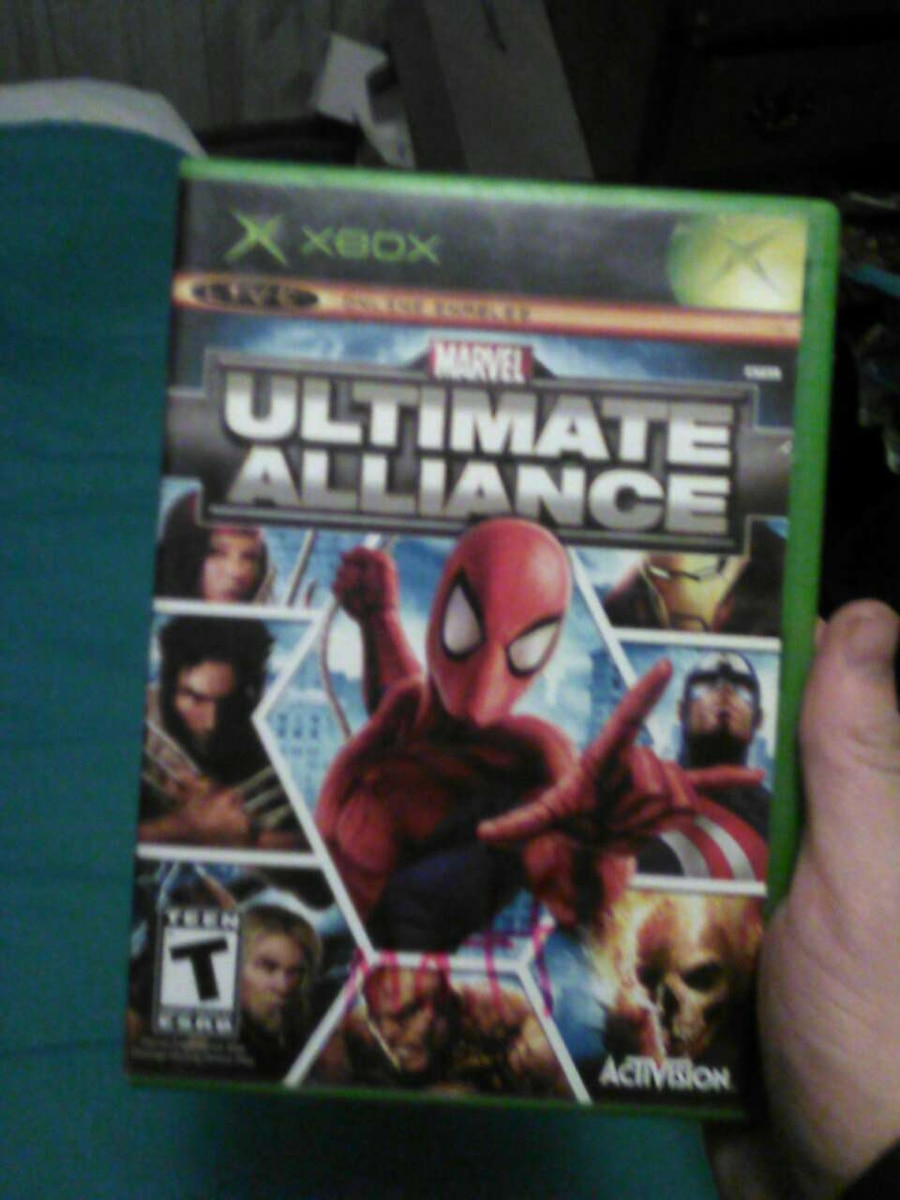 Marvel Ultimate Alliance XBOX game cas