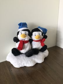 Christmas plush penguins