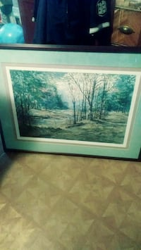 brown wooden framed painting of trees Cohoes, 12047