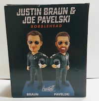 San Jose Sharks Justin Braun & Joe Pavelski Bobblehead Fighter Pilot Night