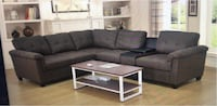 gray suede sectional sofa with ottoman Toronto, M9V 4J9
