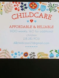 In Home Childcare Available Saturdays  D'Iberville