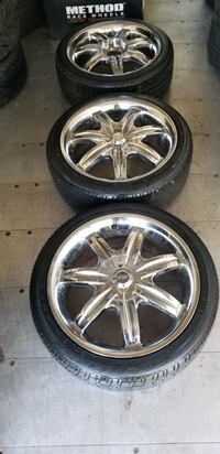17 in chrome wheels rims tires 205 45 17 with spar