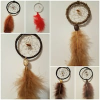 Hand-Made Single Feathered Dreamcatcher