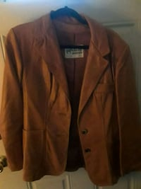 brown leather button-up jacket Viola, 19979