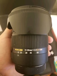 Sigma 17-50mm f/2.8 for CANON mount with lens hood, 3 filters Toronto, M1R 1L1
