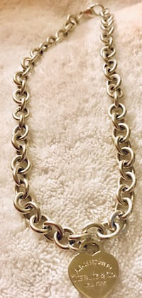 Tiffany & Co. (Retired chain and pendant) Heavy Sterling Silver Necklace Frederick, 21701