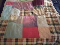 pink, white, and green plaid textile Baxter, 38544