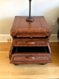 brown wooden 2-drawer nightstand Westport