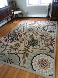 brown and white floral area rug Union Beach, 07735