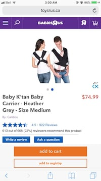 Baby sling Barrie, L4M 5S4