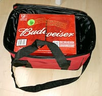 Red and black Budweiser bag cooler Candiac