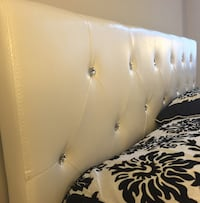 New White Crystal Queen Bed Silver Spring