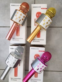 Brand new Karaoke Mic with Built-in wireless Speaker  $40 each firm  Mississauga, L5W