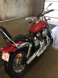 Red and black cruiser motorcycle Airdrie, T4B 1G9