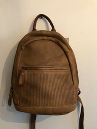 Brown leather backpack Mc Lean, 22102