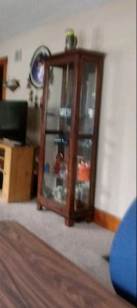 brown wooden framed glass display cabinet Decatur, 62526